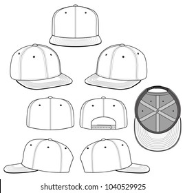SNAPBACK vector illustration flat sketches template