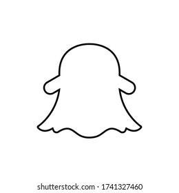 Snapchat logo,snapchat icon vector illustration.EPS 10
