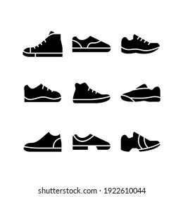 sneaker icon or logo isolated sign symbol vector illustration - Collection of high quality black style vector icons