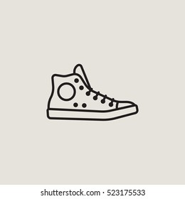 Sneaker Outline Vector Icon
