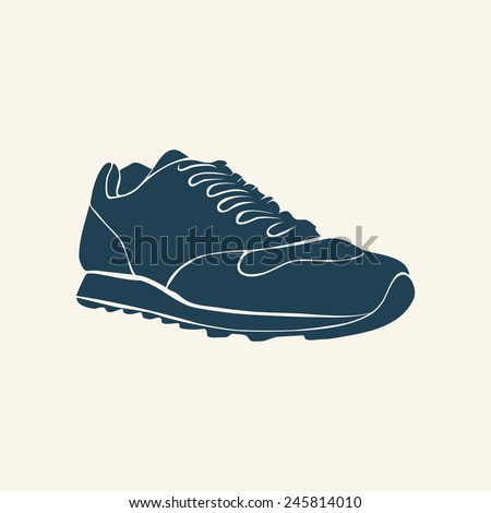 SNEAKER SILHOUETTE Vector Stock Vector (Royalty Free) 245814010 ... 5a8f67a8f