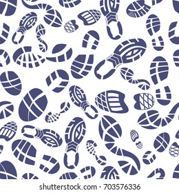 Sneaker tread pattern vector illustration on white background