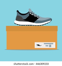 Sneakers box , flat design
