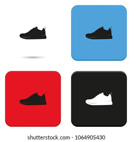 Sneakers flat vector icon.