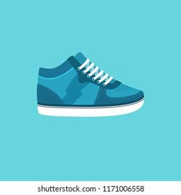Sneakers Flat Vector Shoe