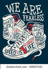 sneakers graphic design for tee