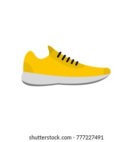 Sneakers icon. Flat illustration of sneakers vector icon isolated on white background