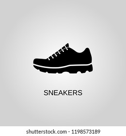 Sneakers icon. Sneakers symbol. Flat design. Stock - Vector illustration.