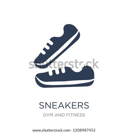Sneakers icon Trendy flat
