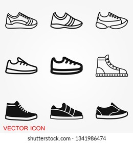 Sneakers icon vector sign symbol for design