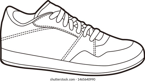 Sneakers illustration.  Illustration of accessories.