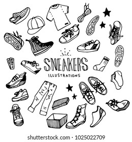 Sneakers Illustration Pack