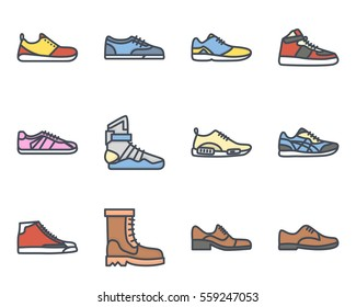 sneakers and men shoes icon