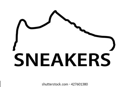 Sneakers. Running shoes icon