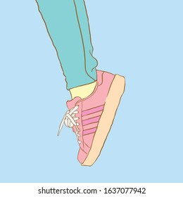 sneakers shoes simple design illustration picture on unsplash