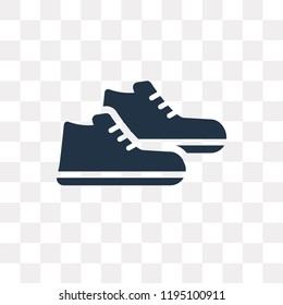Sneakers vector icon isolated on transparent background, Sneakers transparency concept can be used web and mobile
