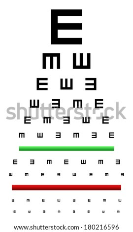 Snellen Eye Chart Test Used Young Stock Vector Royalty Free