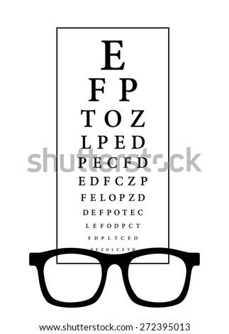 Snellen Eye Test Chart Black Frame Stock Vector Royalty Free