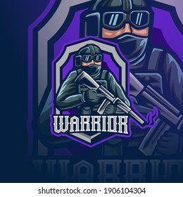 sniper with gun mascot esport logo gaming for your team