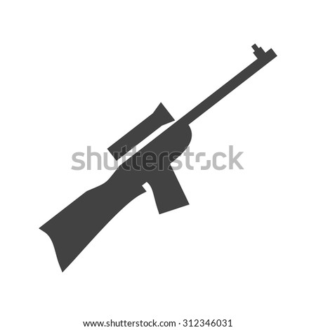 Sniper Military Rifle Icon Vector Image Stock Vector