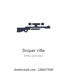 sniper rifle icon. isolated sniper rifle icon vector illustration from army and war collection. editable sing symbol can be use for web site and mobile app