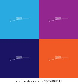 sniper rifle line icon. Elements of military illustration icons. Signs, symbols can be used for web, logo, mobile app, UI, UX