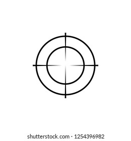 Sniper scope crosshairs thin icon set. Isolated rifle gun target.