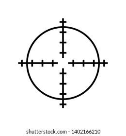 Sniper scope crosshairs thin icon set. Isolated rifle gun target