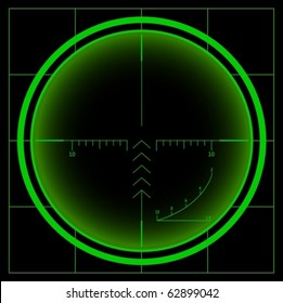 Sniper scope. Night vision. Vector