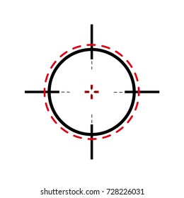Sniper scope pattern tamplete. Sniper scope cross hairs Vector.