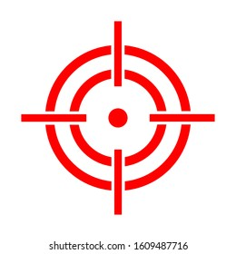 Sniper scope vector isolated on the white background. Target icon illustration, optical sight