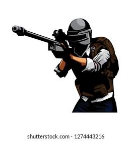 Sniper Shooter vector