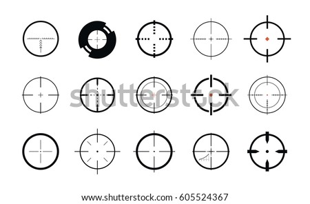 Sniper sight symbol Crosshair