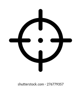 Sniper target or aim at target flat vector icon for apps and websites