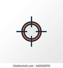 Sniper target icon colored line symbol. Premium quality isolated aiming element in trendy style.