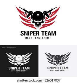 Sniper Team, Games Logo Template