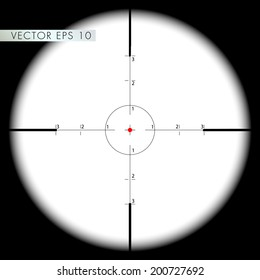 Sniper's scope sight view - vector eps 10