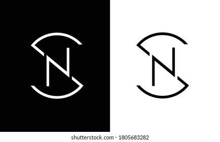 SN,NS ,S ,N  Abstract Letters Logo Monogram