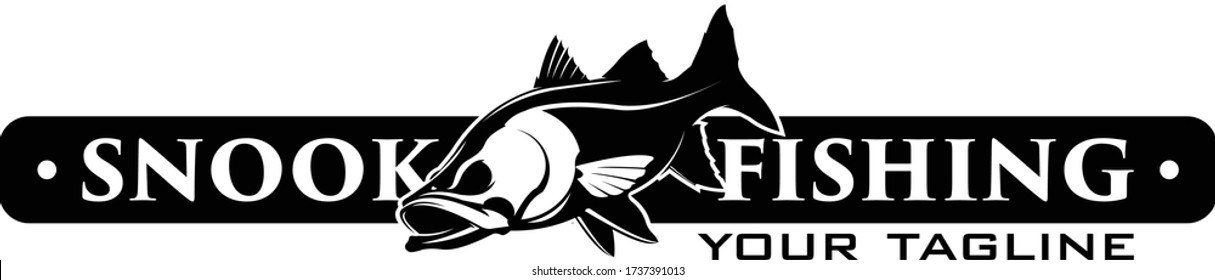 Snook Fishing Logo, Unique & Fresh Logo Template, Great for your snook fishing Activity.