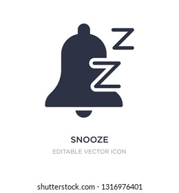 snooze icon on white background. Simple element illustration from Miscellaneous concept. snooze icon symbol design.