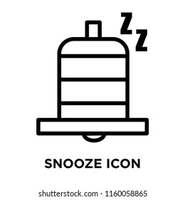 Snooze icon vector isolated on white background, Snooze transparent sign , line and outline elements in linear style