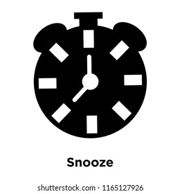 Snooze icon vector isolated on white background, Snooze transparent sign , black time symbols