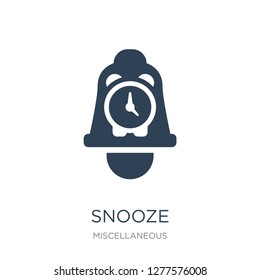 snooze icon vector on white background, snooze trendy filled icons from Miscellaneous collection, snooze vector illustration