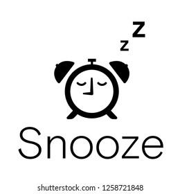 Snooze, Sleeping Clock Pictogram
