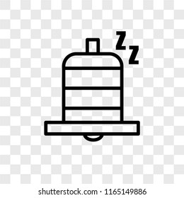 Snooze vector icon isolated on transparent background, Snooze logo concept