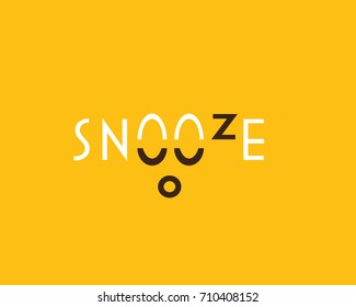 'SNOOZE' word writing logo concept t-shirt