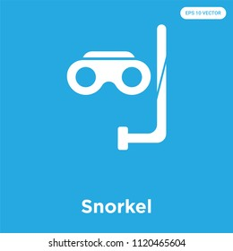 Snorkel vector icon isolated on blue background, sign and symbol, Snorkel icons collection