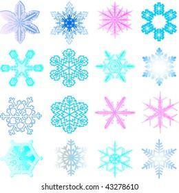 Snow 1.Vector image