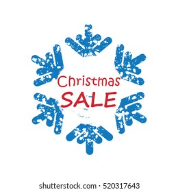 Snow background for Christmas and New Year sale . Poster for winter sales