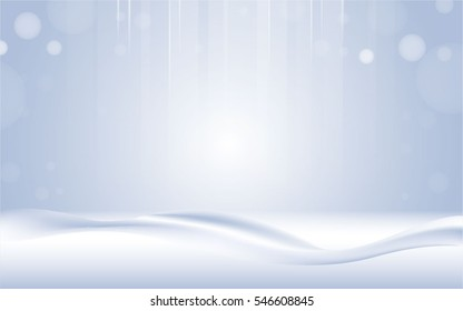 snow background light floor wave cold empty blue vector design.